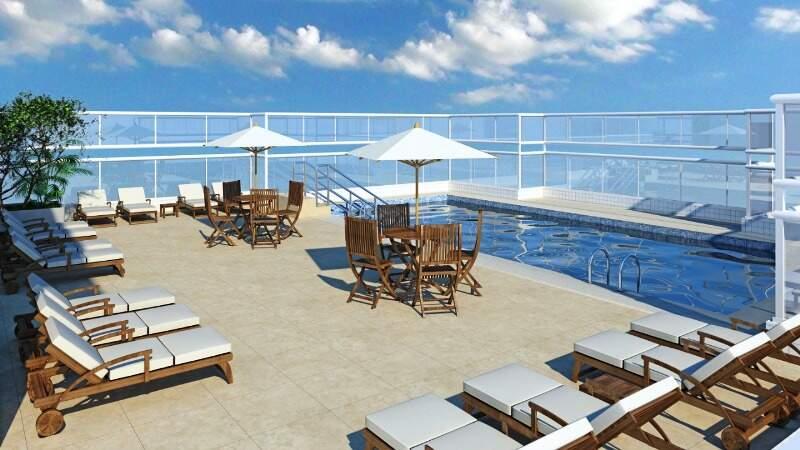 Os moradores também vão adorar a piscina projetada pela construtora