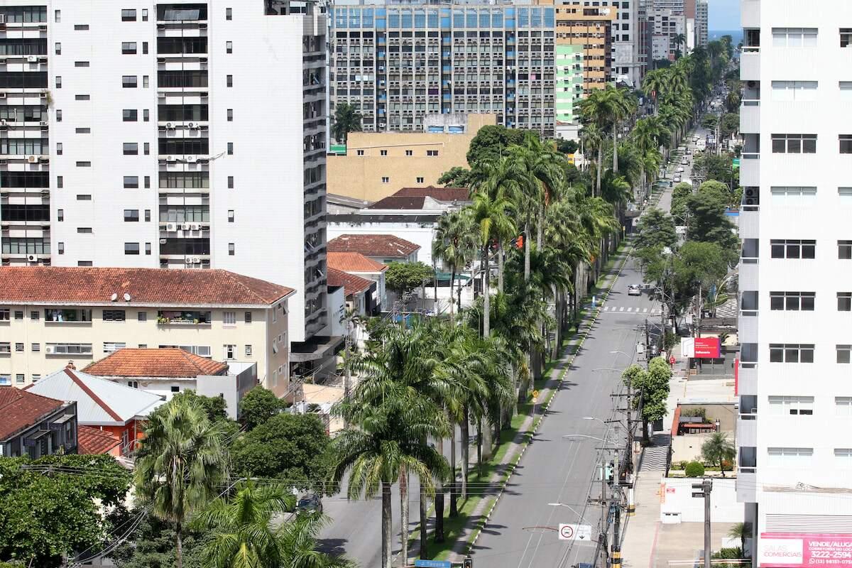 CET-Santos estima em 80% redução do movimento viário na cidade