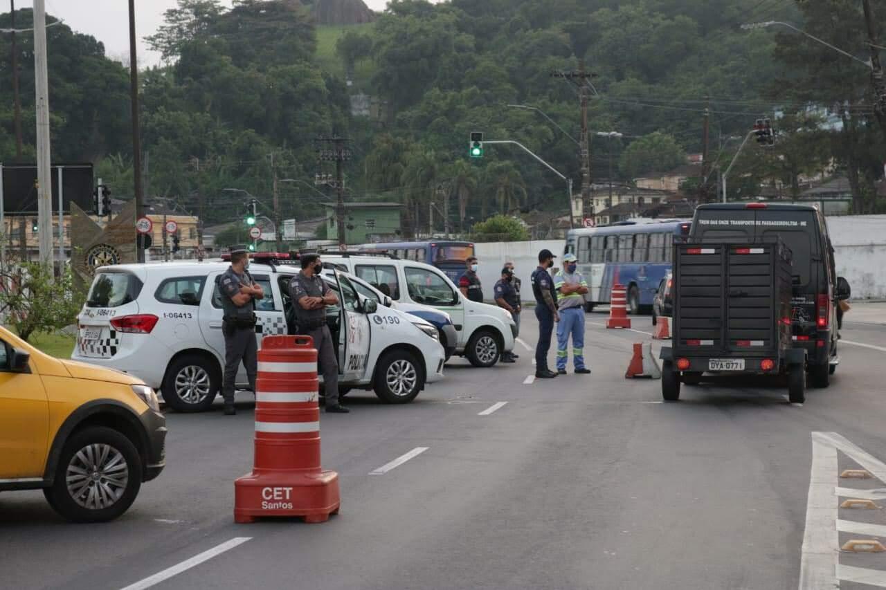 Santos terá barreira sanitária na entrada da cidade neste fim de semana