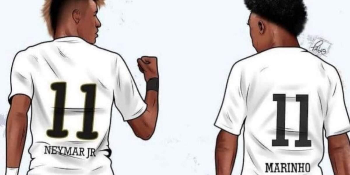 Neymar deseja boa sorte ao Marinho