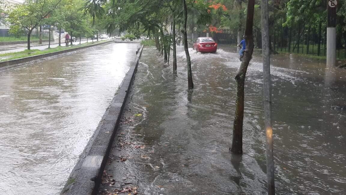 Maior volume de chuva foi registrado em Santos