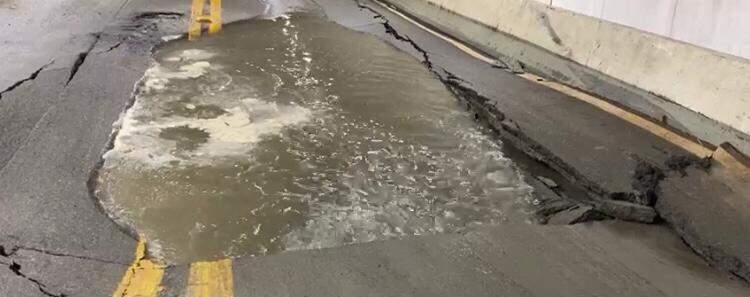 Volume de chuva foi apontado como responsável pela cratera no túnel da Vila Zilda