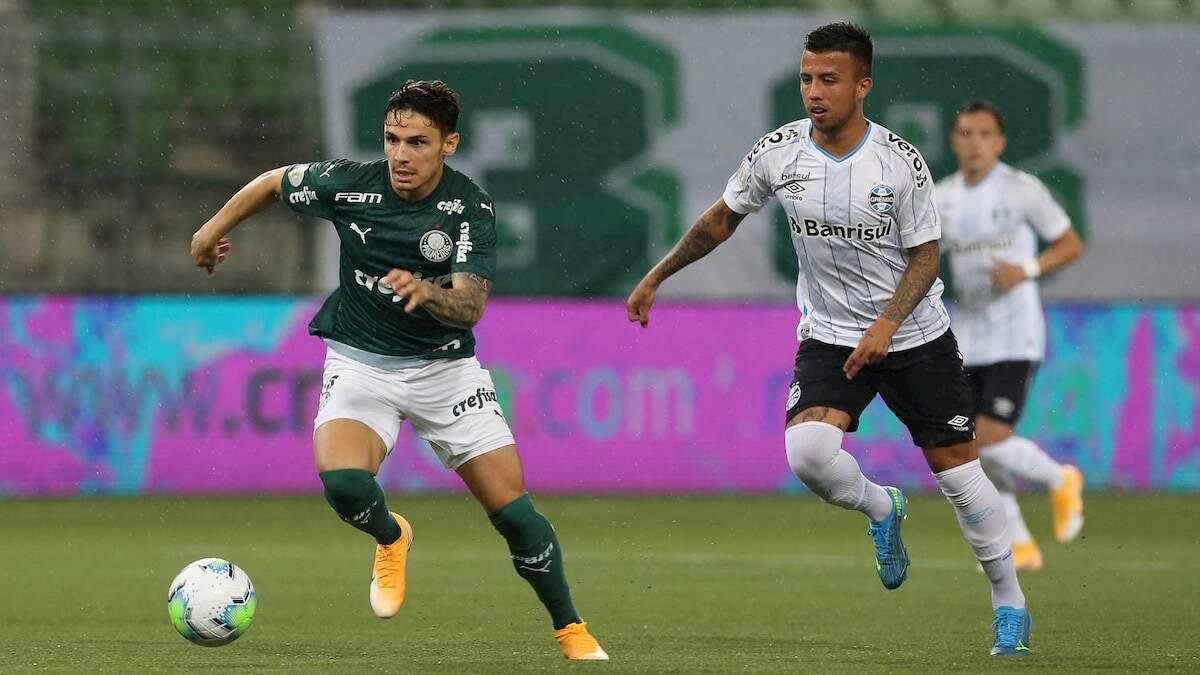 Grêmio empatou aos 42 do segundo tempo, deixando Palmeiras em 6º lugar