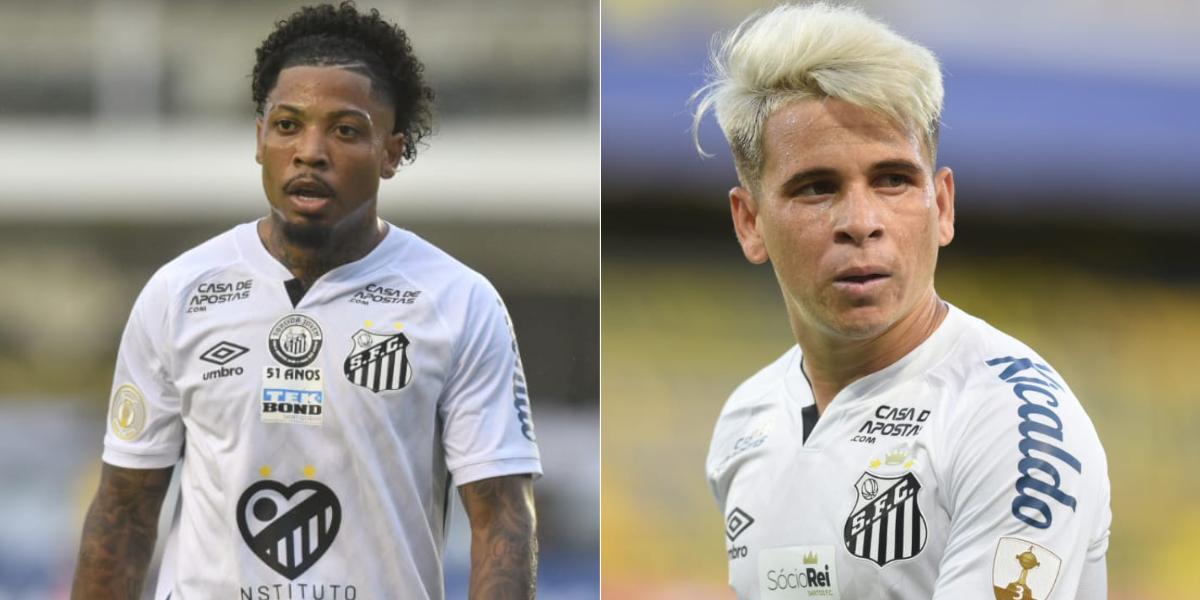 Jogadores do Santos concorrem com Weverton e Rony, do Palmeiras