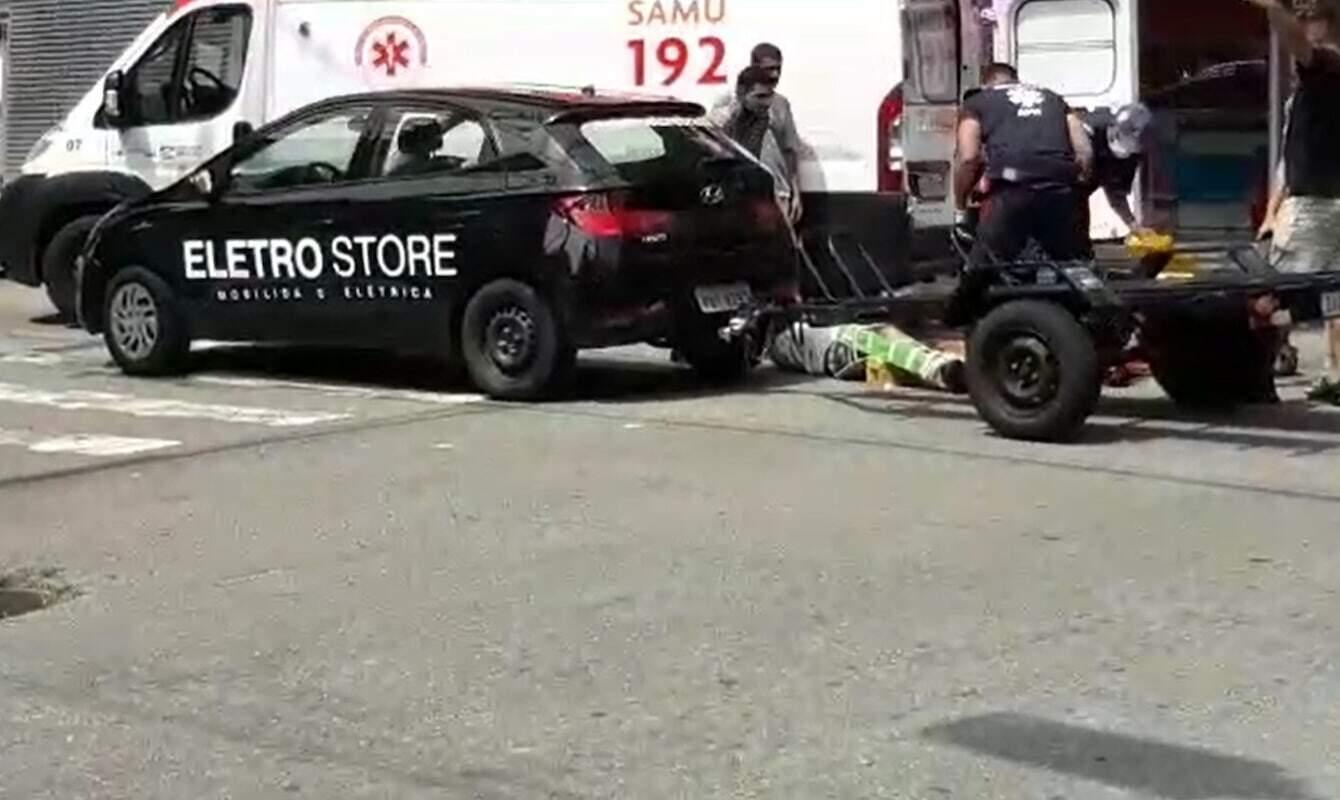 Motociclista recebeu atendimento e foi encaminhado para a UPA Central