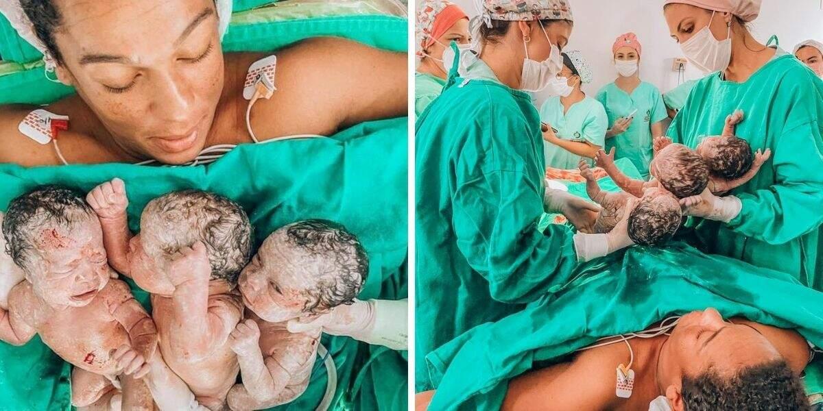 Parto aconteceu no Hospital Marieta Konder Bornhausen, em Itajaí