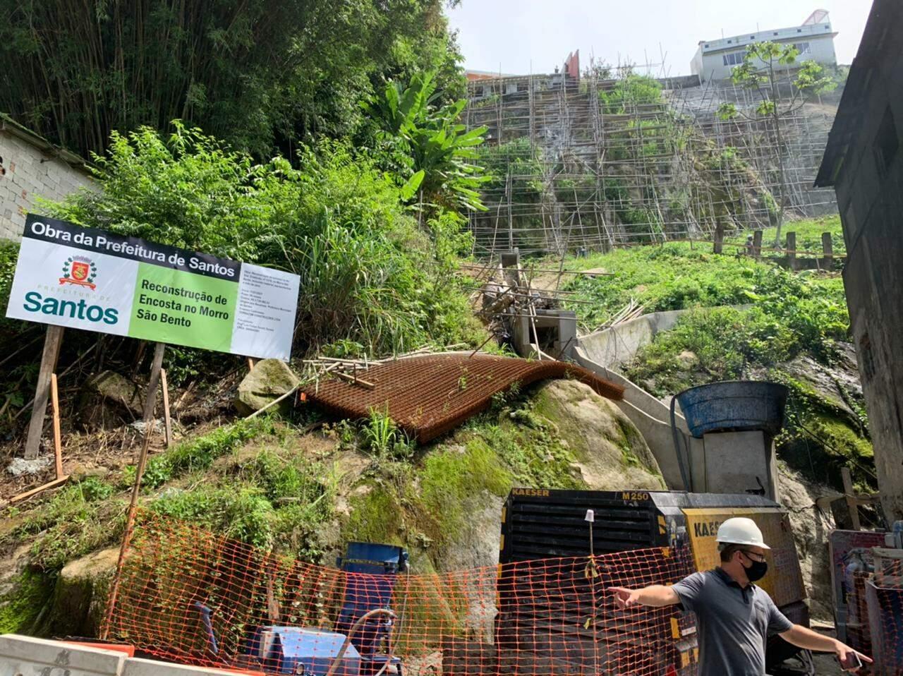 O objetivo é reparar o sistema de escoamento das águas pluviais e prevenir deslizamentos
