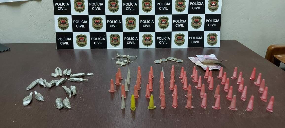 Maconha, cocaína e crack eram vendidos no Balneário Jussara