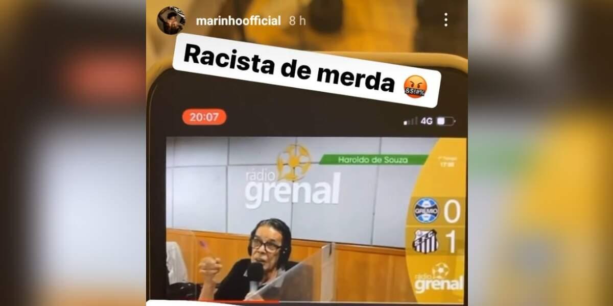 Marinho usa redes sociais para desabafar contra narrador