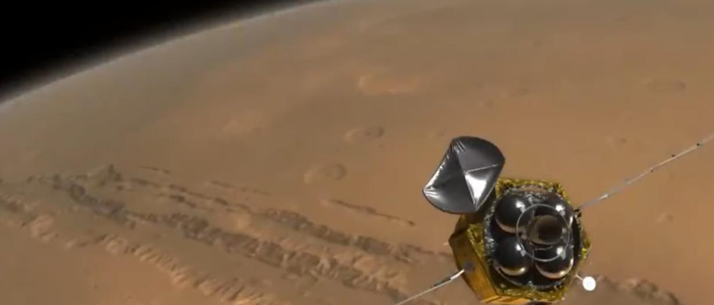 Tianwen-1 carrega um veículo espacial que pretende explorar o planeta