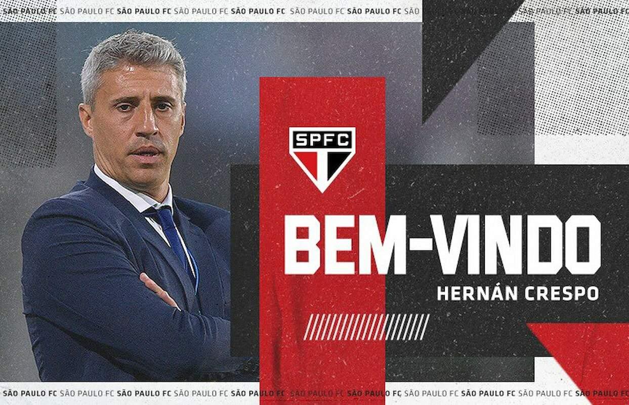 Crespo é o novo técnico do São Paulo