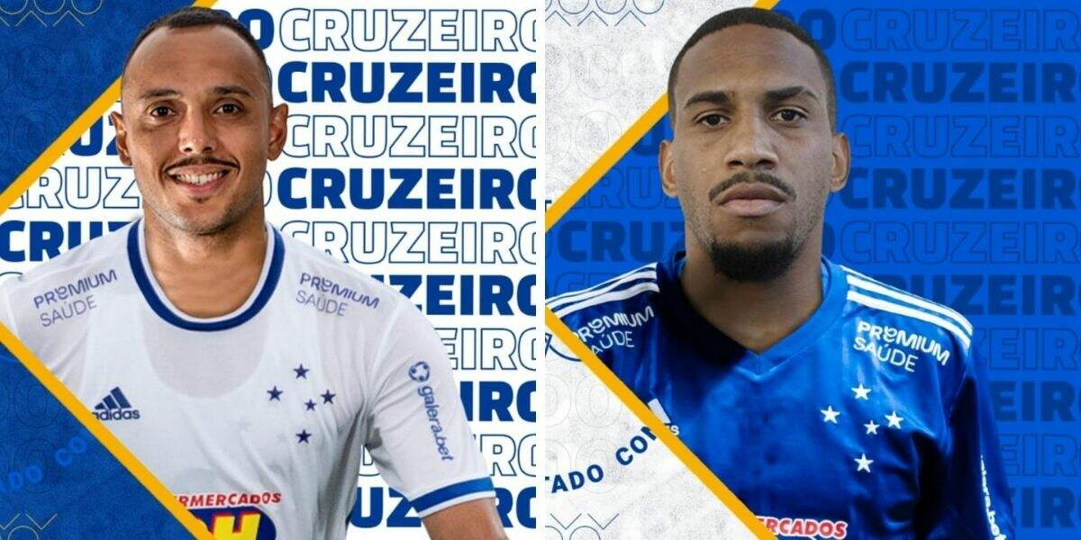 Felipe Augusto (à esquerda) e  Matheus Neris (à direita) são os novos reforços
