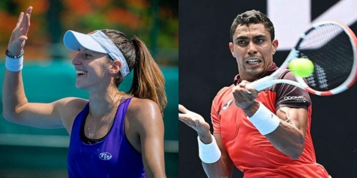Luisa Stefani e Thiago Monteiro são eliminados nas oitavas do Aberto da Austrália