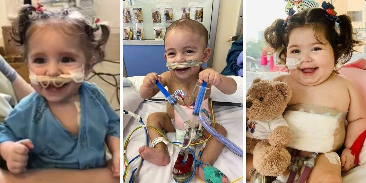Da esquerda para direita, Beatriz, Vicente e Larissa; todos receberam transplante de coração