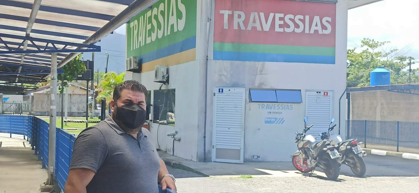 Vereador visitou a travessia de balsas na última semana