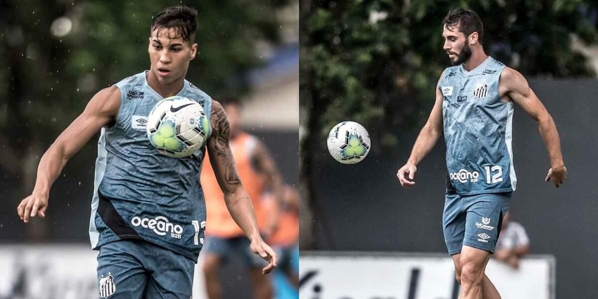 Kaio Jorge e Laércio devem desfalcar o Santos diante do Corinthians