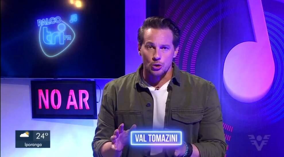 Val Tomazini comanda o 'Palco TRI FM'