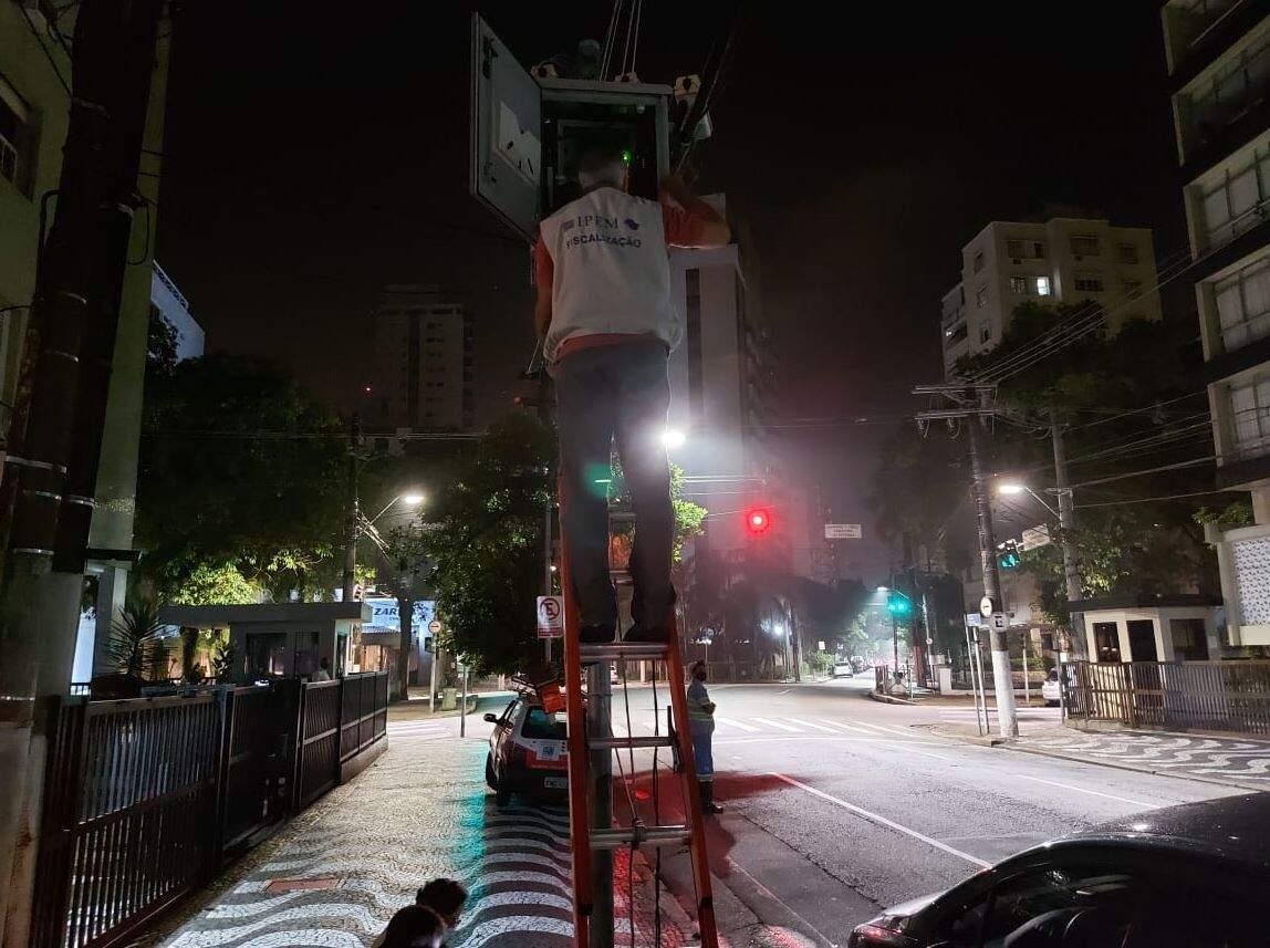 Aferição foi efetuada em 3 radares em Santos