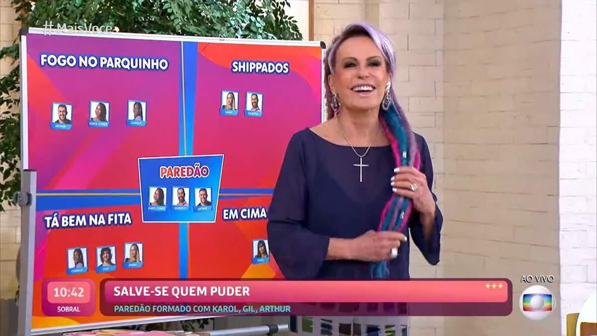 Ana Maria brincou sobre 'se livrar' da entrevista com o eliminado do 'BBB 21' dessa semana