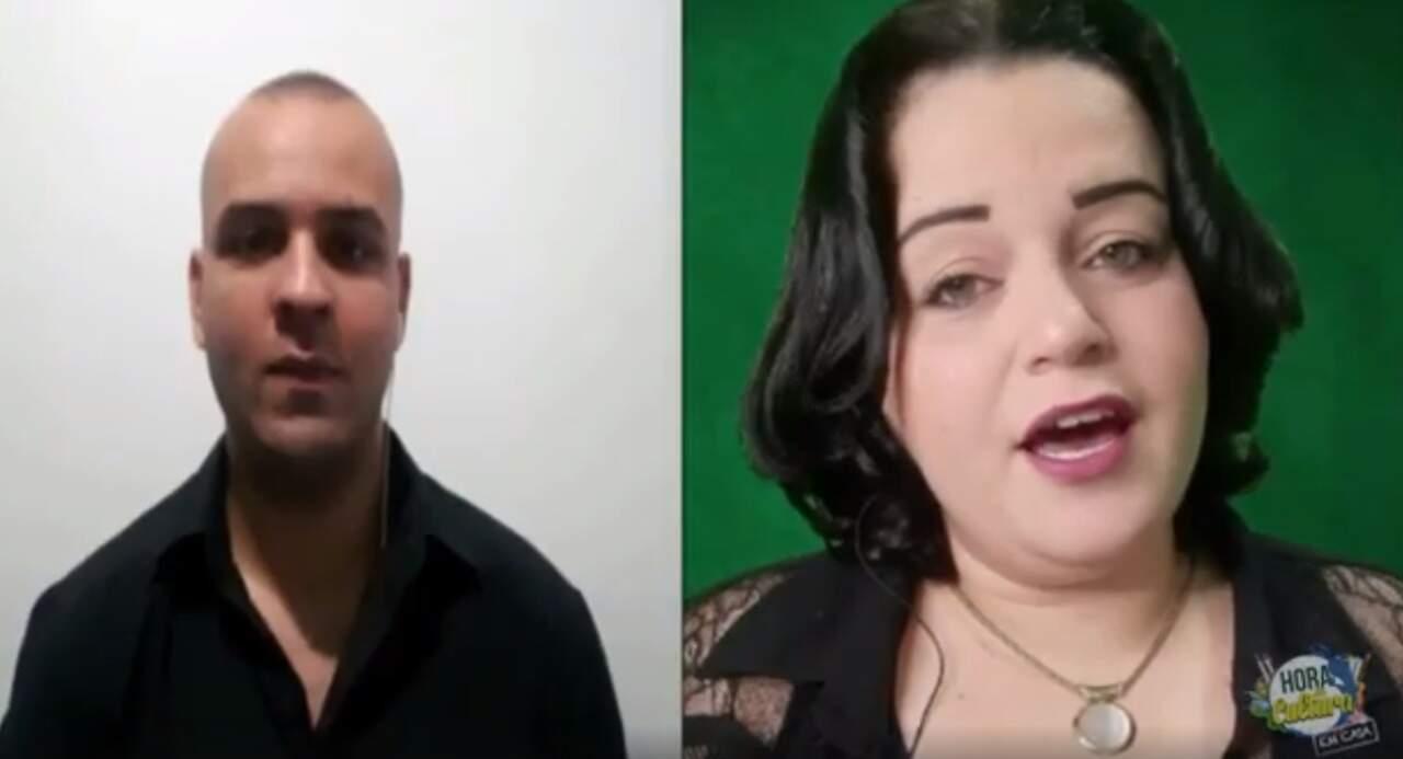 Aline Cruz e o cantor convidado Gabriel Heinrich participam nesta terça-feira