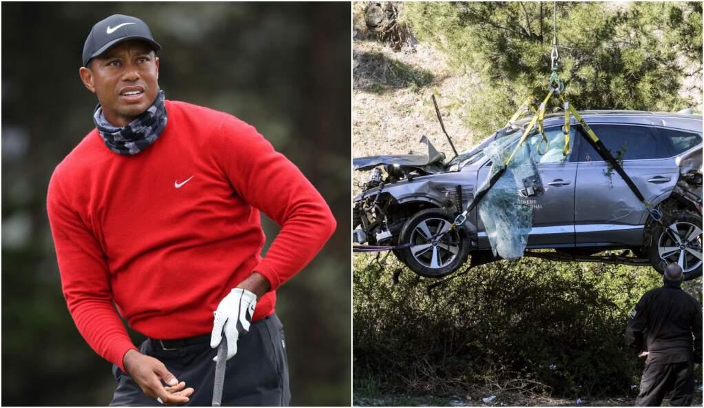 Woods se acidentou enquanto dirigia seu carro em uma estrada, em Los Angeles, na terça-feira
