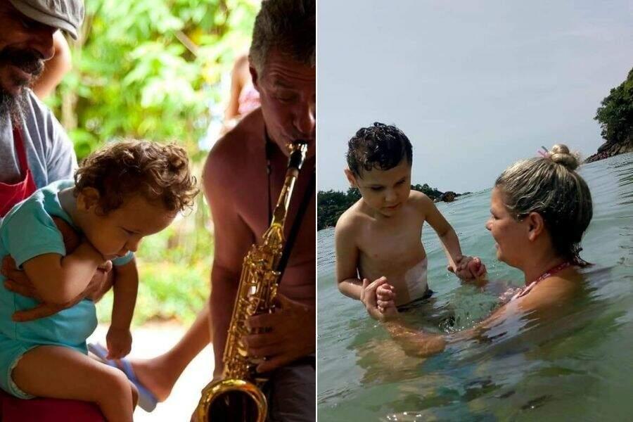 Desde quando era um bebê, Pietro adora a música e o mar.