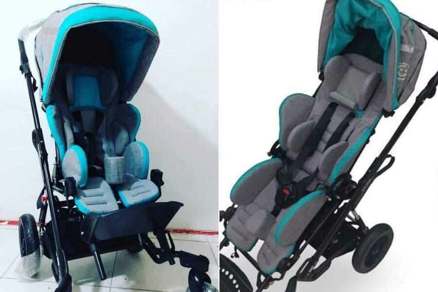 Este é o modelo de cadeira de rodas que a família sonha para Pietro.