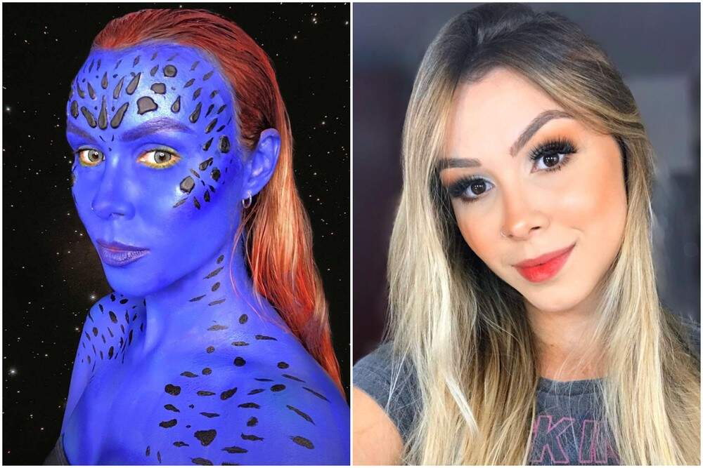 Jovem passa até 8 horas por dia se maquiando para se transformar em personagens