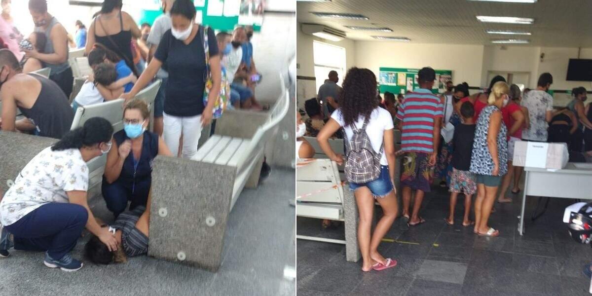Moradores flagraram o momento em que uma mulher desmaiou por conta do calor
