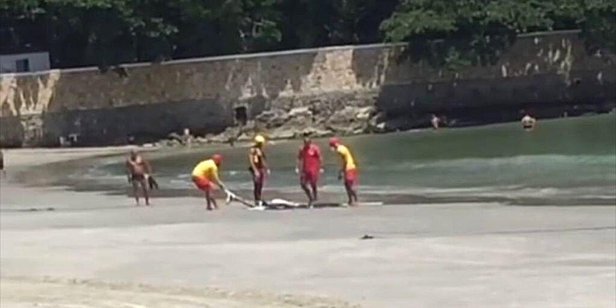 Vítima foi encontrada por moto aquática do GBMar