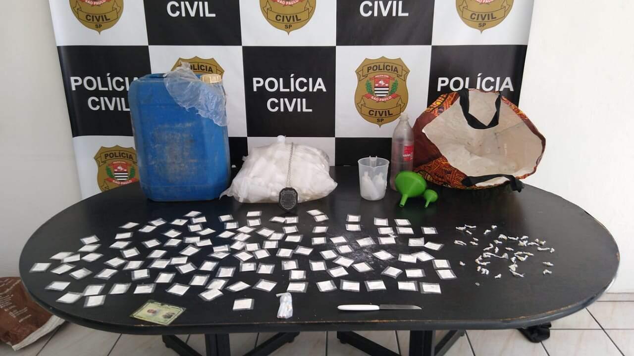 Material ilícito foi apreendido e encaminhado para a perícia criminal