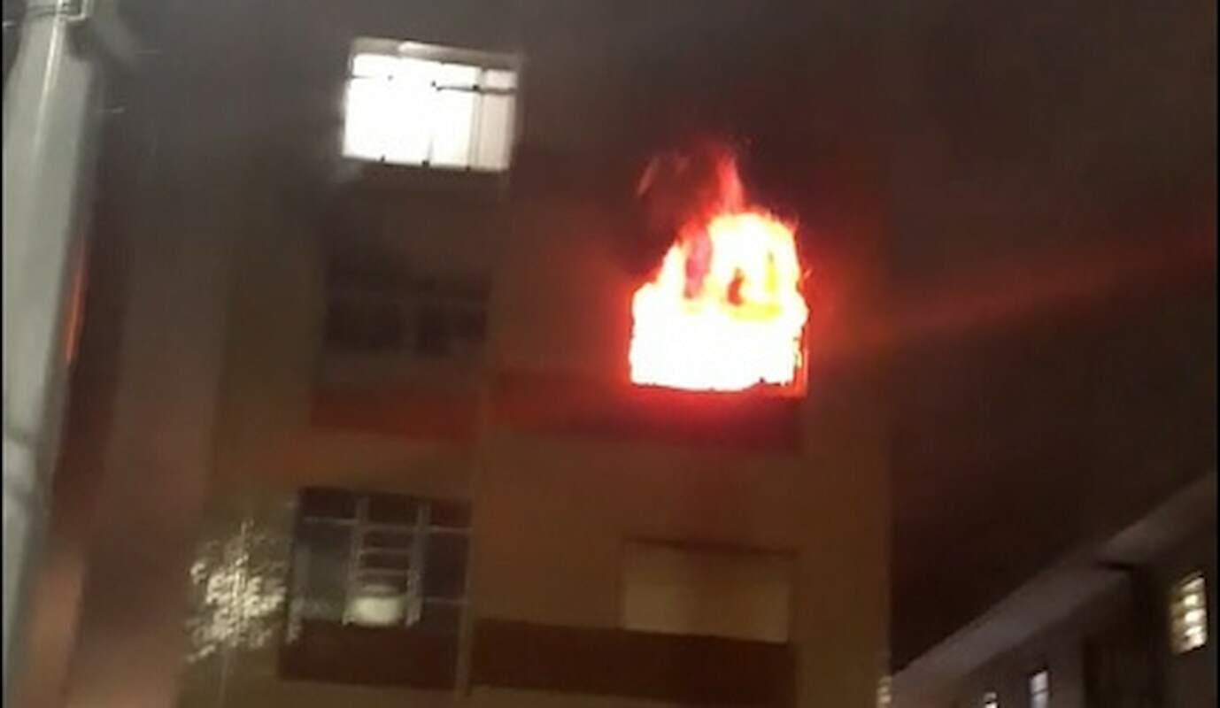 Incêndio atinge apartamento no Itararé, em São Vicente