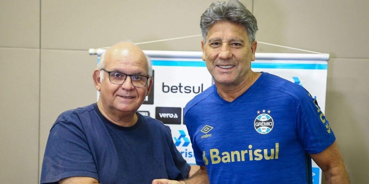 Renato Gaúcho é o treinador que mais treinou o Grêmio
