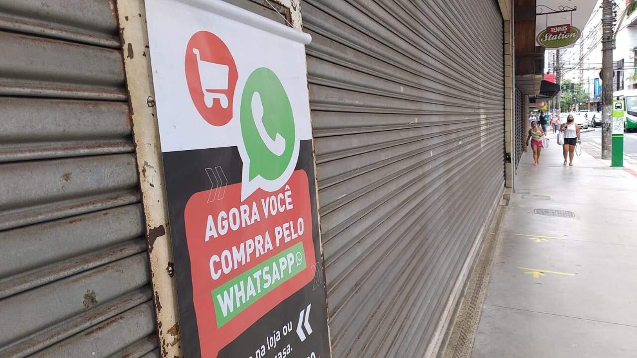 Comerciantes da Baixada Santista buscam whatsapp para driblar fase vermelha: 'Tentativa'