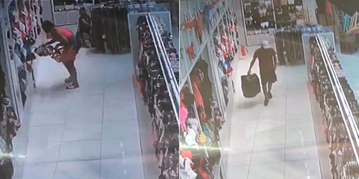 Criminosos chegaram no comércio por volta das 19h45 desta terça-feira (9)