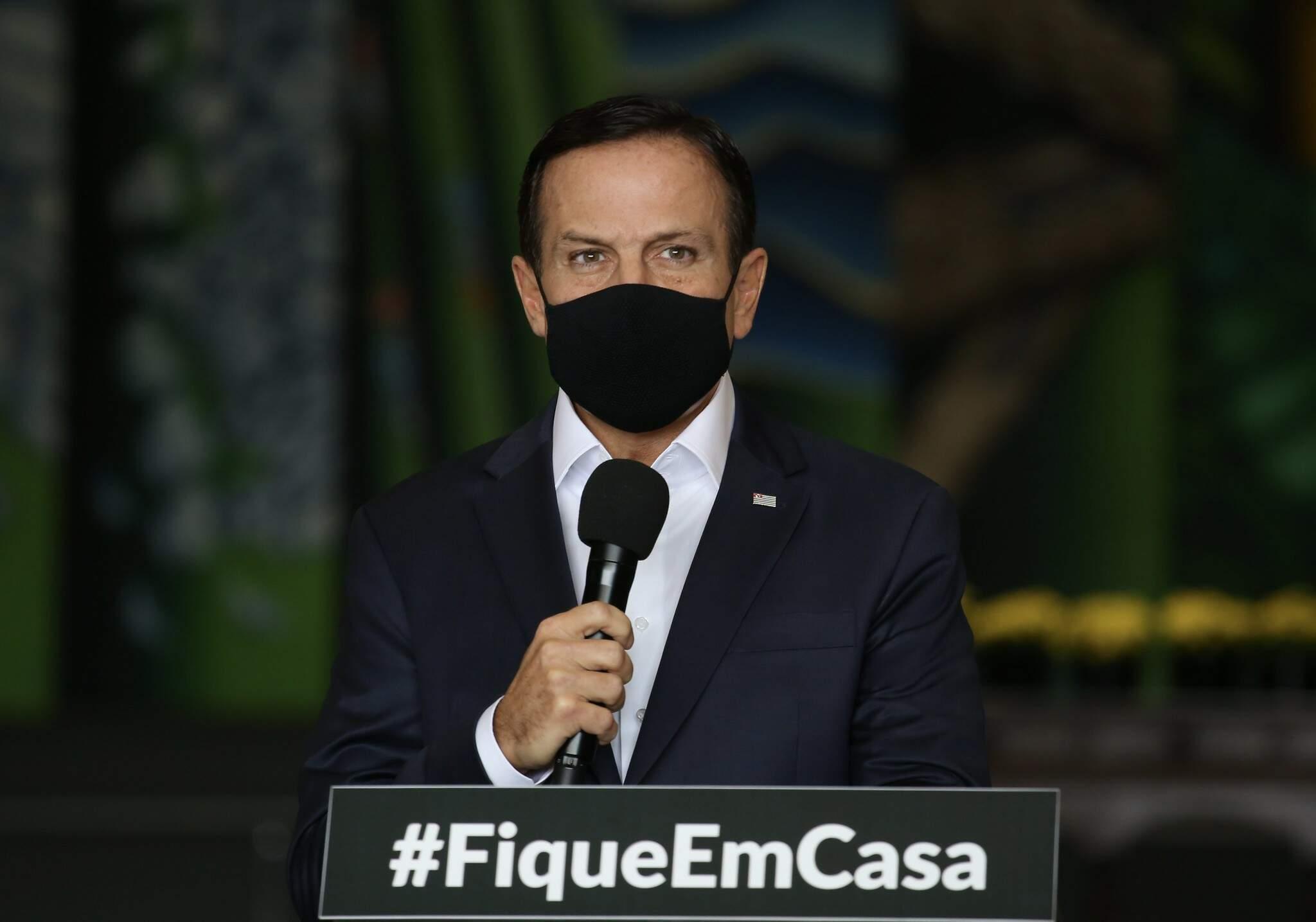 Governador João Doria fez menção ao descumprimento do Ministério da Saúde