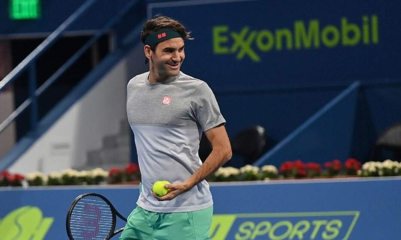 Federer não jogava uma partida oficial desde 30 de janeiro de 2020