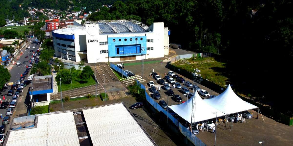 Santos implantará mais uma vez o sistema drive thru, na Arena Santos, na próxima segunda